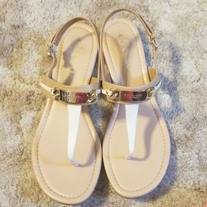 Coach Caterine Sandals - Beige/Ivory